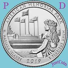 2019 P&D AMERICAN MEMORIAL PARK (N.Mariana Islands)TWO UNCIRCULATED QUARTERS SET
