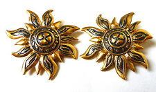 Pierre Lang Ohrclips vergoldet Ohrringe Ohr Clip earring golden Sonne sun