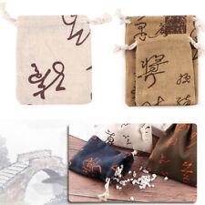 Sack Linen Jute Gift Bags Candy Organizer Drawstring Pouch Wedding Favor