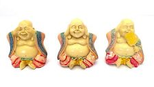 Buddha Statue Lot of 3 See No Hear No Speak No Evil Cream Zen Figurine New