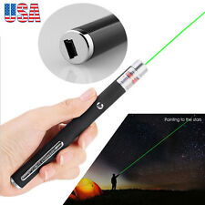 Black BODY GREEN LASER POINTER UPTO 10 MILE RANGE 5 MW 532nm USB Rechargable