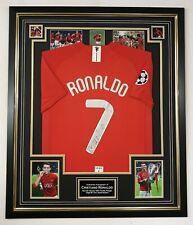More details for * cristiano ronaldo of united signed shirt autographed jersey** aftal dealer