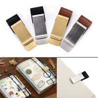 Metal PU Leather Pen Holder Useful Clip Pen Traveler Notebook Diary FittingsADD