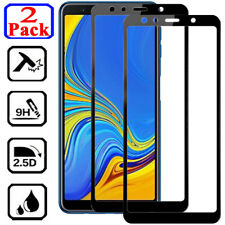 2Pcs Full Cover Tempered Glass Screen Protector For Samsung A3 A5 A7 A6 A8 Plus