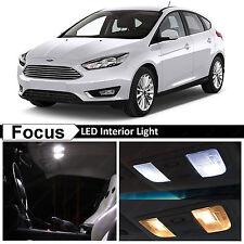 11x White Interior LED Lights Package Kit for 2010-2016 Ford Focus