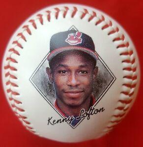 KENNY LOFTON #7 1997 Photo Baseball (1996 Stats) CLEVELAND INDIANS Jacobs Field