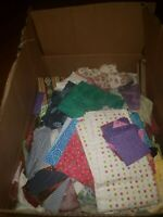 Cotton Fabric Lot Over 15 Lbs Mixed Print Quilting Crafting Sewing Scraps Pieces