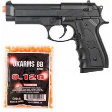AIRSOFT FULL SIZE M9 BERETTA SPRING AIRSOFT PISTOL HAND GUN w/ 1,000 6mm BB BBs