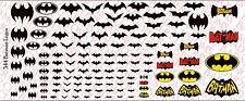 Decals: Batman logos - Waterslide Decals Various Sizes