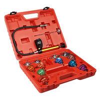 New 15PCS Radiator Pressure Tester Kit Cooling System Test Detector Set tools