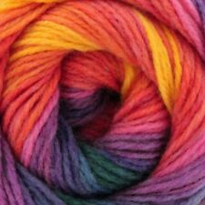 Sunset Rainbow Swirl Gradient Batik Yarn 100g wool crochet knitting DK acrylic