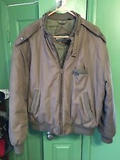 Vintage 80's Members Only Full Zip Brown Polyester Coat Jacket Mens Size 46