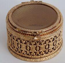 Boîte à Bijoux Vitrine Bronze Et Laiton Doré, XIX ème