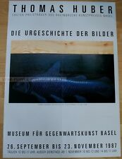 swiss EXHIBITION POSTER 1987  - THOMAS HUBER - PREHISTORY OF PICTURES fish