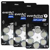 everactive 675 Size Implant HD Hearing aid batteries PR44 Cochlear implant cells