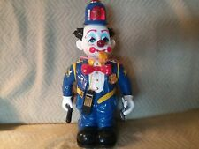 Vintage, New Bright, Bumpin' Bobby Clown Policeman 1989. Not fully functional.