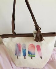 Style & CO printed tote canvas popsicle handbag New With Tags