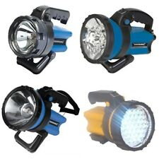 BRIGHT RECHARGEABLE TORCH SPOTLIGHT / HALOGEN/ LED - SELECT YOUR TORCH