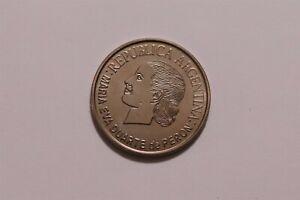 ARGENTINA 2002 2 peso - KM#135- EVITA - Copper Nickel B34 #9058