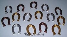 15 SILVER/GOLD/BRONZE HORSESHOE QUICKLETS (EYELETS) - CARD MAKING/SCRAP BOOKING