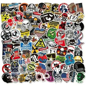 100 Pack Hard Hat Stickers Funny Construction Electrician Helmet Tool Box Decals