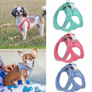 Soft Step In Dog Harness for Small and Medium Dogs Reflective Dog Walking Vest