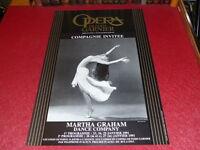 COLL. J.LE BOURHIS DANSE BALLET/ AFFICHE OPERA PARIS GARNIER MARTHA GRAHAM 1991
