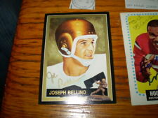 autographed joe belllino 1991 heisman signed card # 26 navy