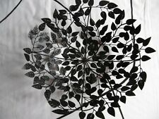 MARKS AND SPENCER BLACK METAL LEAF CUT OUT DECORATIVE BOWL