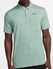 Nike Golf TW Tiger Woods Dri-Fit Stripe Polo Shirt Top Size M 932196 357