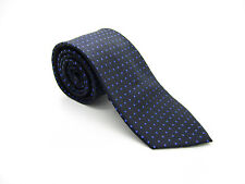 J. FERRAR Silk Black Blue Polka Dot Tie