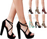 WOMENS LADIES PEEP TOE STRAPPY PLATFORM STILETTO HIGH HEEL SANDALS SHOES SIZE