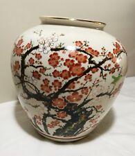 Hand-Painted Decorative Porcelain Vase by Japanese Kutani Master Artist H20cm