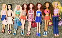 "LOT OF 8 - ""MY SCENE"" Barbie FULLY DRESSED SHOES & ACCESSORIES Loose Dolls"
