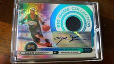 2005 topps big game collections allen iverson patch auto /129