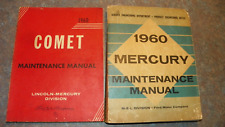 1960 Mercury Shop Manual and Comet Maintenance Manual - You need these ! Vintage