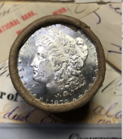 (ONE) UNCIRCULATED $10 Silver Dollar Roll CC & 1879 Morgan Dollar Ender