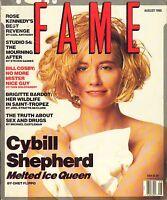AUG 1990 - FAME entertainment fashion magazine - CYBILL SHEPHERD