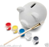 Paint Your Own Pig Money Box Piggy Bank Kids Craft Kit Toy New Personalise Toy