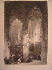 Eglise saint-Pierre de Caen Calvados Milieu XIXe gravure sur acier