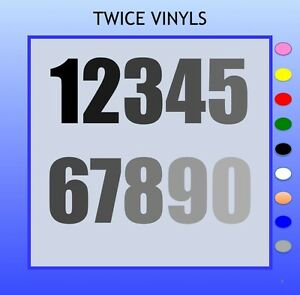 SELF ADHESIVE NUMBERS 150mm high each ideal for bins signs cars bikes house door