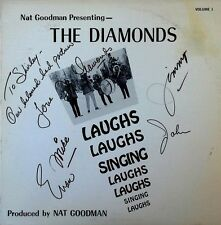 THE DIAMONDS - NAT GOODMAN PRESENTS - THREE SPEED LABEL - AUTOGRAPHED LP