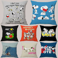 Home Decor Cute Snoopy Pillow Case Car Lumbar Sofa Bed Pillowcase Cushion Cover