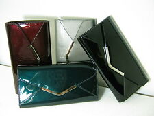 Ladies Clarks Just Jasmin Synthetic Patent Clutch Bag with Detachable Strap