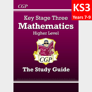 KS3 Years 7-9 Maths Study Guide included Answer Higher Level CGP