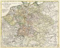 Deutschland 1795 - Postkutschenstrecken - Historische Karte (Reprint)