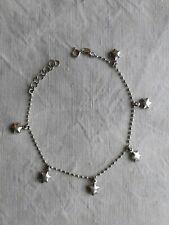 Bracelet de cheville / chevillère chaîne et étoiles argent massif