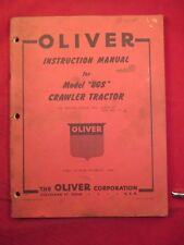 OLIVER MODEL BGS CRAWLER TRACTOR  INSTRUCTION MANUAL ORIGINAL
