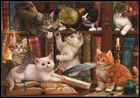 Cats and Books - Chart Counted Cross Stitch Pattern Needlework Xstitch craft DIY