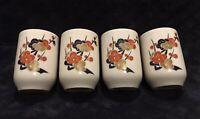 Vintage Japanese Kutani Koransha Style Porcelain Hand Painted Sake Cup Set